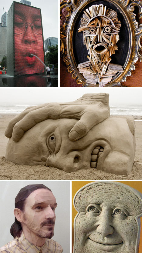 Unique-Face-Sculptures