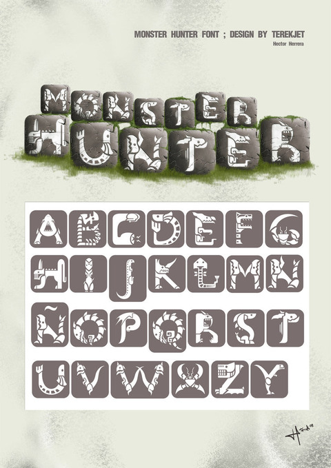 Monster_Hunter_font_design_by_terekjet