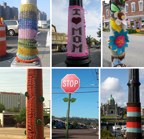 Pole-Yarn-Bomb