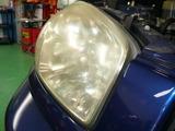 ヘッドライト 磨きクリーニング