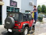 ラングラー 手洗い洗車