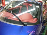 ポルシェ 718スパイダー 窓ガラス撥水加工