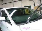 窓ガラス油膜取り+撥水加工