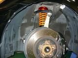 レクサス IS−F アラゴスタ車高調取り付け