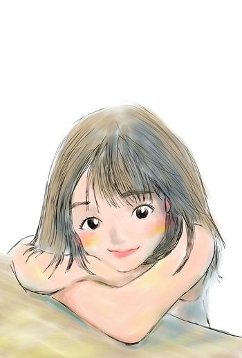 水彩画美少女もりとち!