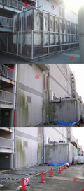 すでに撤去された受水槽 マーム受水槽取替え工事
