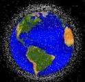 高度2,000km以下の軌道を周回するスペースデブリの分布