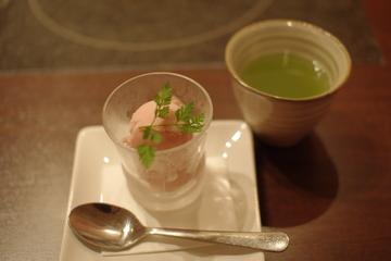 アセロラのシャーベット&お茶