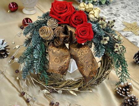 日比谷花壇 クリスマス&お正月フラワーギフトサロン 3 クリスマス・お正月2WAYリース