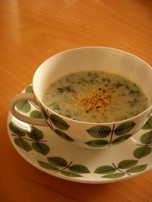 無印良品 【好みの濃さで飲むスープ じゃがいも(ポタージュ)】で海苔ポタージュ