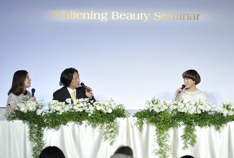 @cosme  ホワイトニング ビューティ セミナー 【山咲千里さんの美肌トーク】