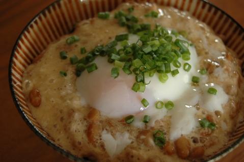 納豆ごはん+温泉卵