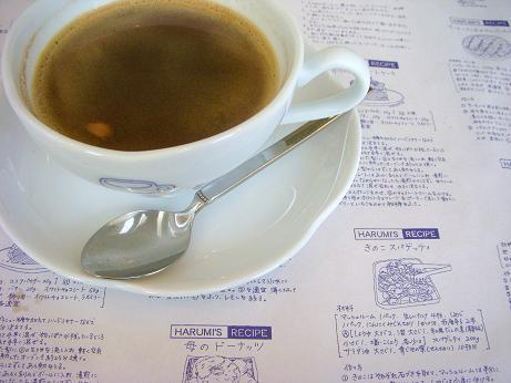 コーヒーとランチョンマット