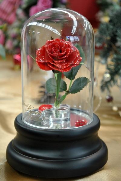 日比谷花壇 クリスマス&お正月フラワーギフトサロン 7 『マジカルローズ(美女と野獣)』とクリスマス限定カラー『ガラスの靴』