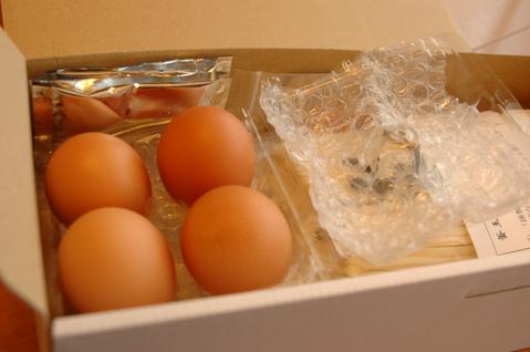卵はエアーパッキンでしっかり梱包!