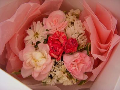 花束のアップ