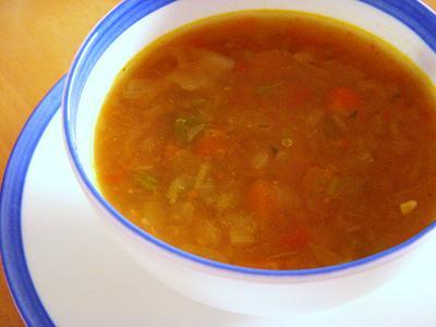 いろいろ野菜のヘルシースープ