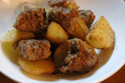 塩豚ひき肉のハッシュドポテト
