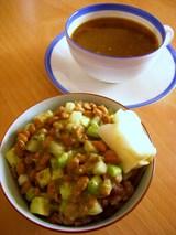 納豆と一緒にスープカレー