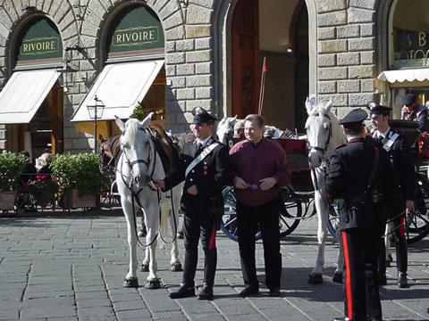 シニョーリア広場の馬