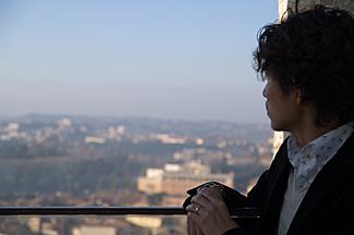 塔から眺める