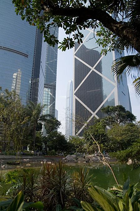 公園と摩天楼