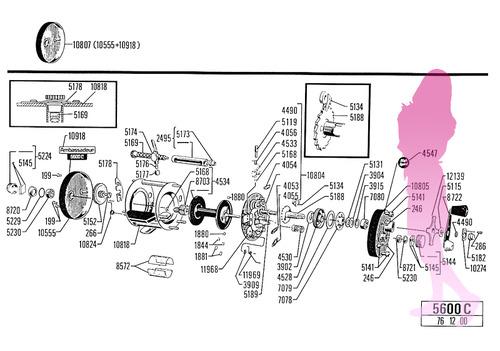 ABU ambassadeur 5600C schematic パーツリスト