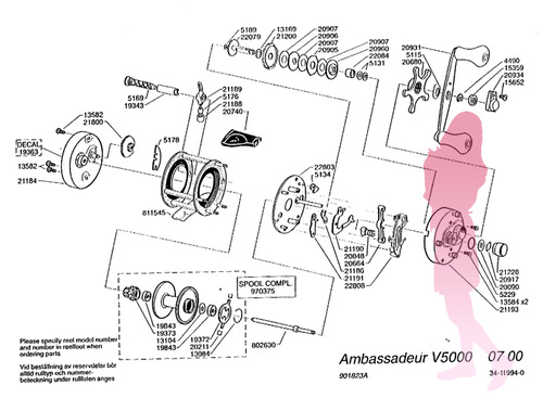 abu ambassadeur V5000 schematic★彡