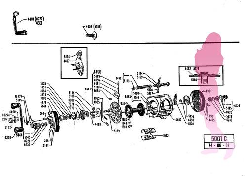 ABU ambassadeur old 5001C schematic★彡