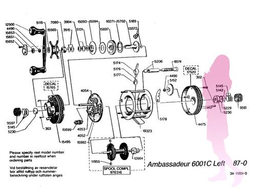 ABU ambassadeur 6001C 87y schematic