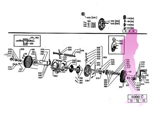 old abu ambassadeur 6000C schematic
