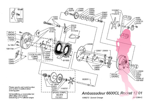Abu ambassadeur 6600CL Rocket schematic