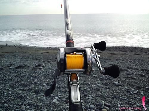 シマノの投げ竿とアンバサダーで 海へ★彡