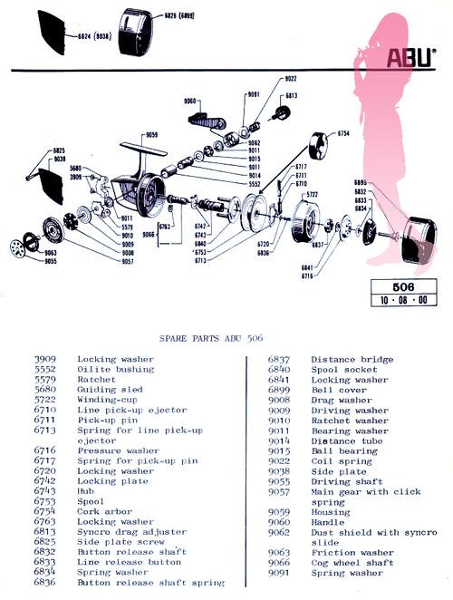 ABU 506 スピニング Schematic