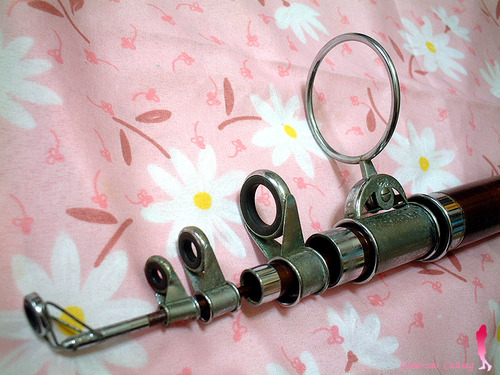 ちょー重たい金属ガイド オリムの投げ竿