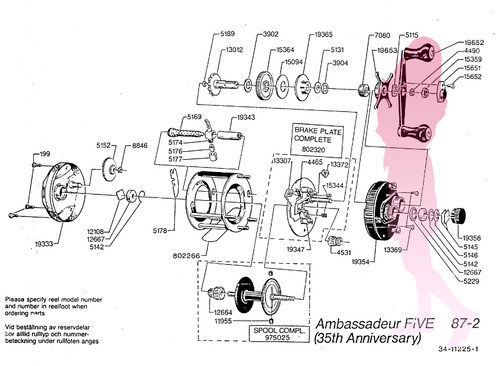 Abu ambassadeur FIVE 35th アニバーサリー schematic★彡