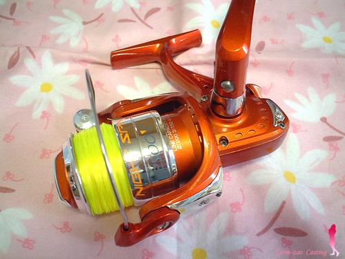 OGK ナイトスピン 2500 光るスピニングリール 大阪漁具