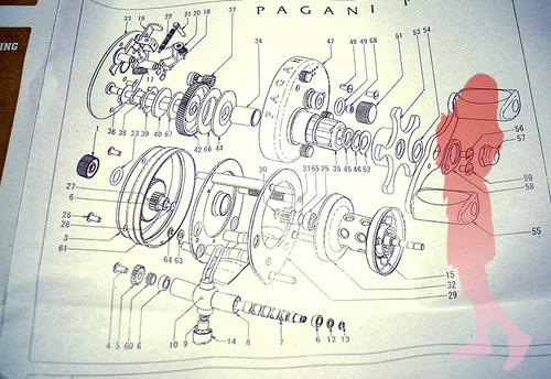Megabass PAGANI P300 分解図★彡