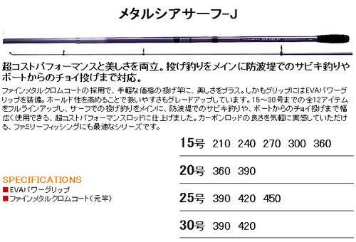 RYOBI メタルシアサーフ J Webページ
