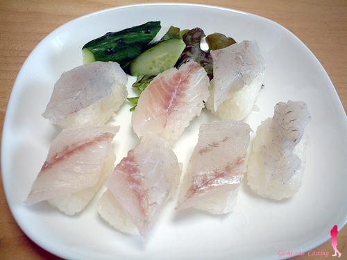 釣れたイシモチでぉ寿司♪