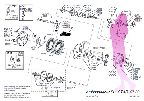 Abu ambassadeur SIX STAR 0703 schematic★彡