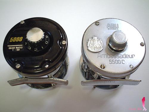 ミリオネア5000 VS アブ5500C リールフット比較