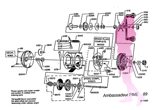 ABU ambassadeur FIVE 89-0 schematic