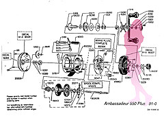 ABU ambassadeur 550 PLUS 91-0 Schematic