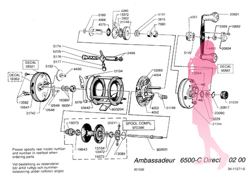 Abu ambassadeur 6500C direct schematic
