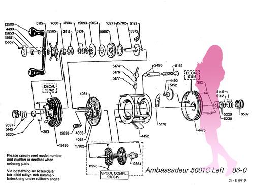 OLD ABU ambassadeur 5001C schematic