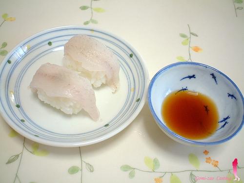 釣れたシロギスの握り寿司♪