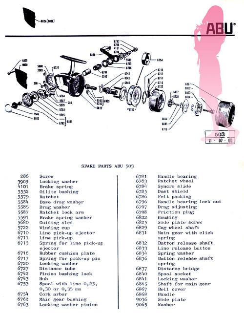 ABU 503 スピニング Schematic