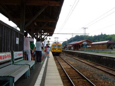 列車到着!