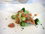 稲取の金目鯛グリル、地物野菜添え